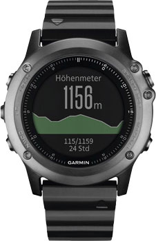 fashion наручные  мужские часы Garmin 010-01338-21. Коллекция Fenix 3