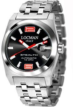 fashion наручные  мужские часы Locman 020500BKNRD0BR0. Коллекция STEALTH