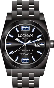 fashion наручные  мужские часы Locman 0205BKBKFBL0BRK. Коллекция STEALTH