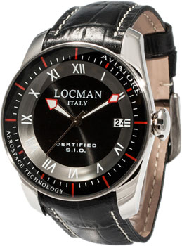 fashion наручные  мужские часы Locman 045200BKFWRKPSK. Коллекция AVIATORE