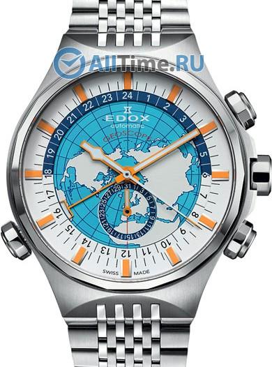 Мужские наручные швейцарские часы в коллекции Geoscope Edox