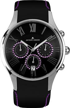 fashion наручные  женские часы Jacques Lemans 1-1606K. Коллекция Capri