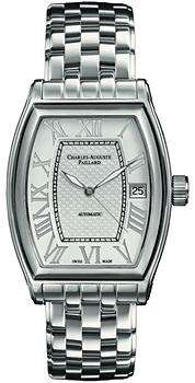 Швейцарские наручные  мужские часы Charles Auguste Paillard 101.101.11.16B. Коллекция Classic Tonneau