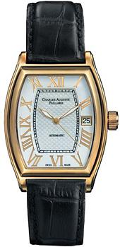 Швейцарские наручные  мужские часы Charles Auguste Paillard 101.101.12.16S. Коллекция Classic Tonneau
