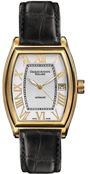 Швейцарские наручные  мужские часы Charles Auguste Paillard 101.103.12.16S. Коллекция Classic Tonneau