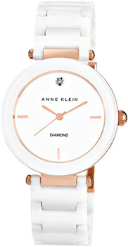 fashion наручные  женские часы Anne Klein 1018RGWT. Коллекция Diamond