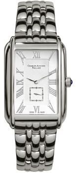 Швейцарские наручные  мужские часы Charles Auguste Paillard 102.200.11.16B. Коллекция Rectangular Quartz