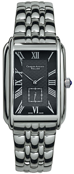 Швейцарские наручные  мужские часы Charles Auguste Paillard 102.200.11.36B. Коллекция Rectangular Quartz
