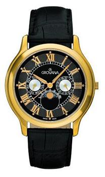Швейцарские наручные  мужские часы Grovana 1025.1517. Коллекция Moonphase