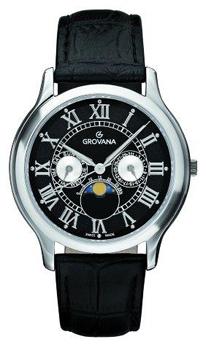 Швейцарские наручные  мужские часы Grovana 1025.1537. Коллекция Moonphase