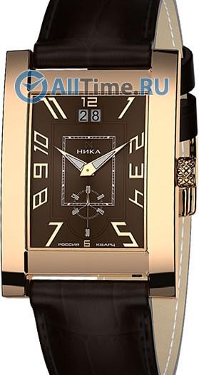 Мужские наручные золотые часы в коллекции Мегаполис Ника