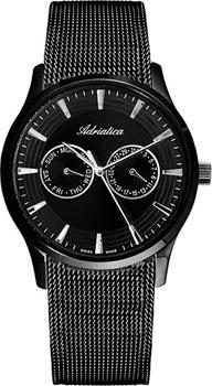 Швейцарские наручные  мужские часы Adriatica 1100.B114QF. Коллекция Multifunction