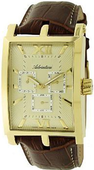 Швейцарские наручные  мужские часы Adriatica 1112.1261QF. Коллекция Multifunction