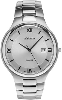 Швейцарские наручные  мужские часы Adriatica 1114.5163Q. Коллекция Gents