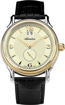 Швейцарские наручные  мужские часы Adriatica 1126.2251Q. Коллекция Gents