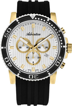 Швейцарские наручные  мужские часы Adriatica 1127.1213CH. Коллекция Chronograph
