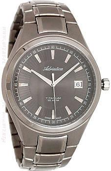 Швейцарские наручные  мужские часы Adriatica 1137.4116Q. Коллекция Titanium