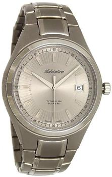 Швейцарские наручные  мужские часы Adriatica 1137.4117Q. Коллекция Titanium