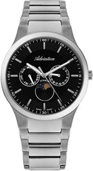 Швейцарские наручные  мужские часы Adriatica 1145.4114QF. Коллекция Titanium