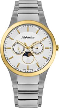 Швейцарские наручные  мужские часы Adriatica 1145.6113QF. Коллекция Titanium