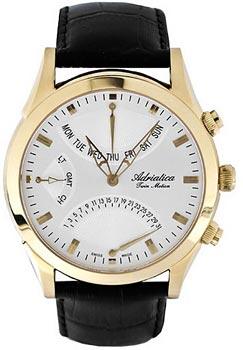 Швейцарские наручные  мужские часы Adriatica 1191.1213CH. Коллекция Twin