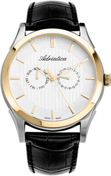 Швейцарские наручные  мужские часы Adriatica 1191.2213QF. Коллекция Multifunction