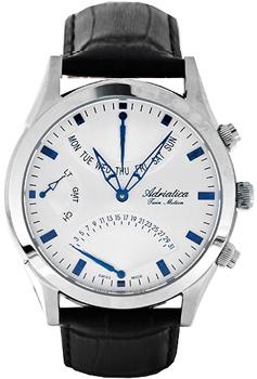 Швейцарские наручные  мужские часы Adriatica 1191.52B3CH. Коллекция Twin