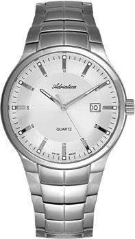 Швейцарские наручные  мужские часы Adriatica 1192.5113Q. Коллекция Gents
