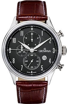 Швейцарские наручные  мужские часы Grovana 1192.9537. Коллекция Chrono