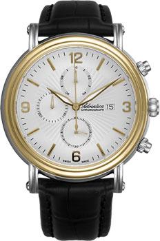 Швейцарские наручные  мужские часы Adriatica 1194.2253CH. Коллекция Chronograph