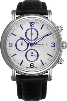 Швейцарские наручные  мужские часы Adriatica 1194.52B3CH. Коллекция Chronograph