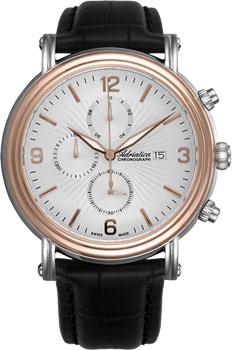 Швейцарские наручные  мужские часы Adriatica 1194.R253CH. Коллекция Chronograph