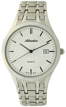 Швейцарские наручные  мужские часы Adriatica 1236.5113Q. Коллекция Gents