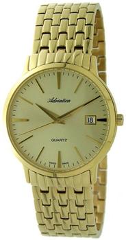 Швейцарские наручные  мужские часы Adriatica 1243.1111Q. Коллекция Gents