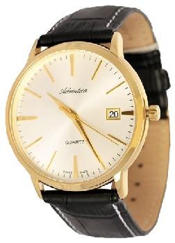 Швейцарские наручные  мужские часы Adriatica 1243.2113Q. Коллекция Twin