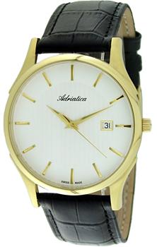 Швейцарские наручные  мужские часы Adriatica 1246.1213Q. Коллекция Gents