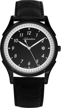 Швейцарские наручные  мужские часы Adriatica 1246.B224Q. Коллекция Gents