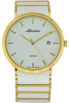 Швейцарские наручные  мужские часы Adriatica 1255.D113Q. Коллекция Ceramic