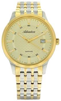 Швейцарские наручные  мужские часы Adriatica 1256.2111Q. Коллекция Gents
