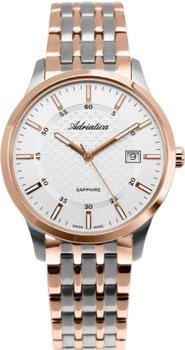 Швейцарские наручные  мужские часы Adriatica 1256.R113Q. Коллекция Twin