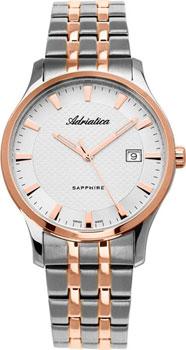 Швейцарские наручные  мужские часы Adriatica 1258.R113Q. Коллекция Twin