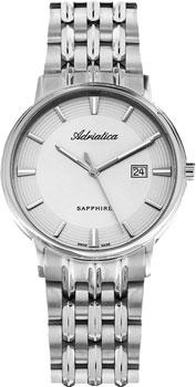 Швейцарские наручные  мужские часы Adriatica 1261.5113Q. Коллекция Twin