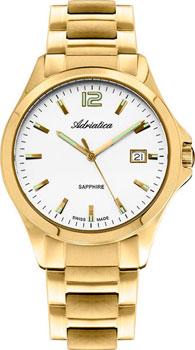 Швейцарские наручные  мужские часы Adriatica 1264.1153Q. Коллекция Twin