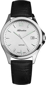 Швейцарские наручные  мужские часы Adriatica 1264.5253Q. Коллекция Twin