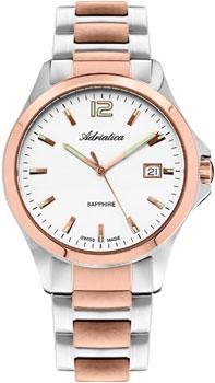 Швейцарские наручные  мужские часы Adriatica 1264.R153Q. Коллекция Twin