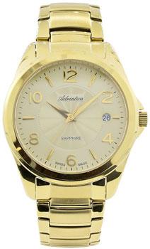 Швейцарские наручные  мужские часы Adriatica 1265.1151Q. Коллекция Twin