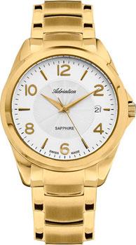 Швейцарские наручные  мужские часы Adriatica 1265.1153Q. Коллекция Twin