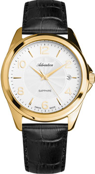 Швейцарские наручные  мужские часы Adriatica 1265.1253Q. Коллекция Twin