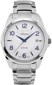 Швейцарские наручные  мужские часы Adriatica 1265.51B3Q. Коллекция Twin
