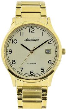 Швейцарские наручные  мужские часы Adriatica 1267.1121Q. Коллекция Twin